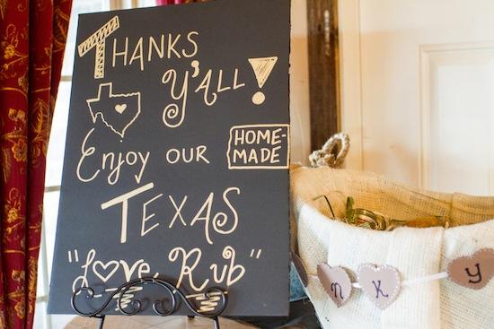Texas rub gift favors