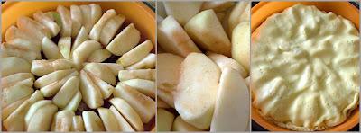 Tarte tatin disponiamo le mele a raggiera