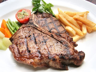 menu makan, steak, pizza