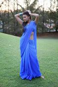 Neelam Upadhyay pics in Blue saree-thumbnail-17