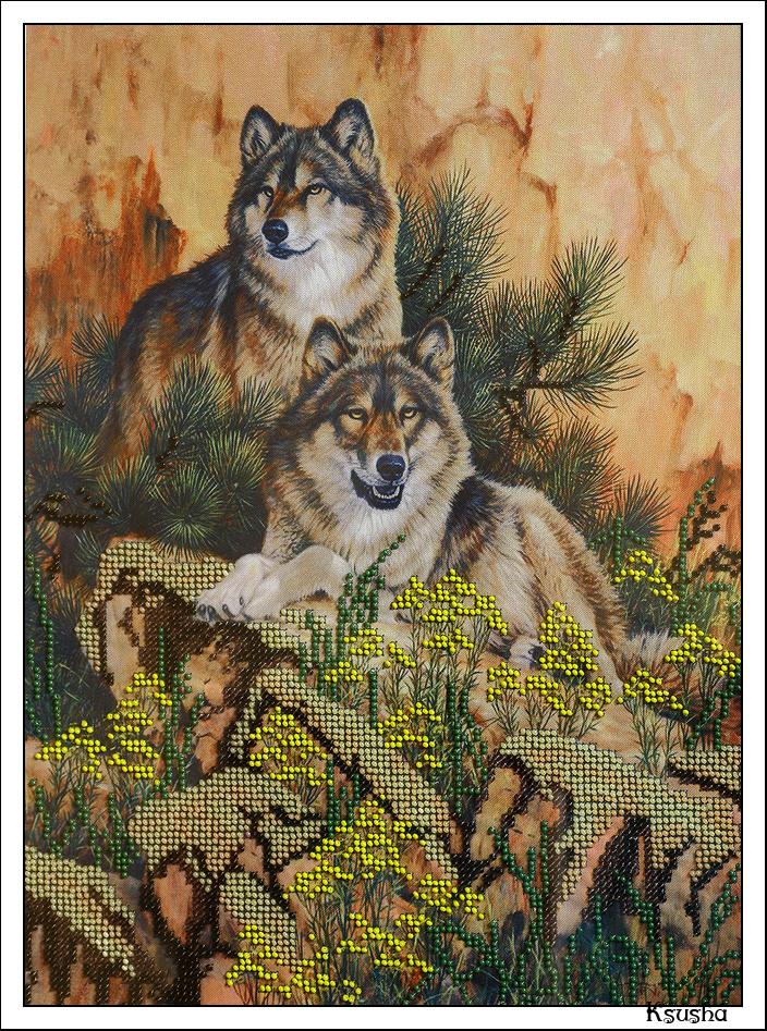 Волк в вышивке значение 70