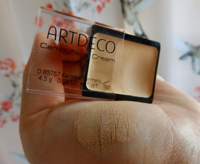 artdeco camouflage cream review sweet apricot blog review swatch