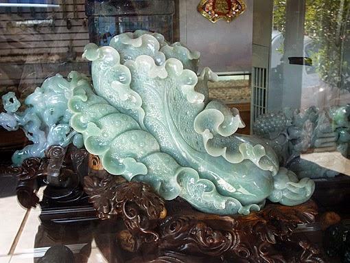 Green Burmese Jade Sculpture
