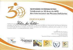 Mais uma conquista para AAPNE-30anos de AIPD-SÃO PAULO-2011