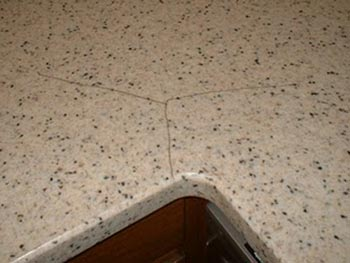 Beautiful Countertops Easy Way To Clean Solid Surface Cracks