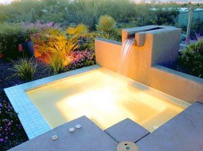 Piscinas y algo mas cascadas para piscinas for Cascadas modernas para jardin