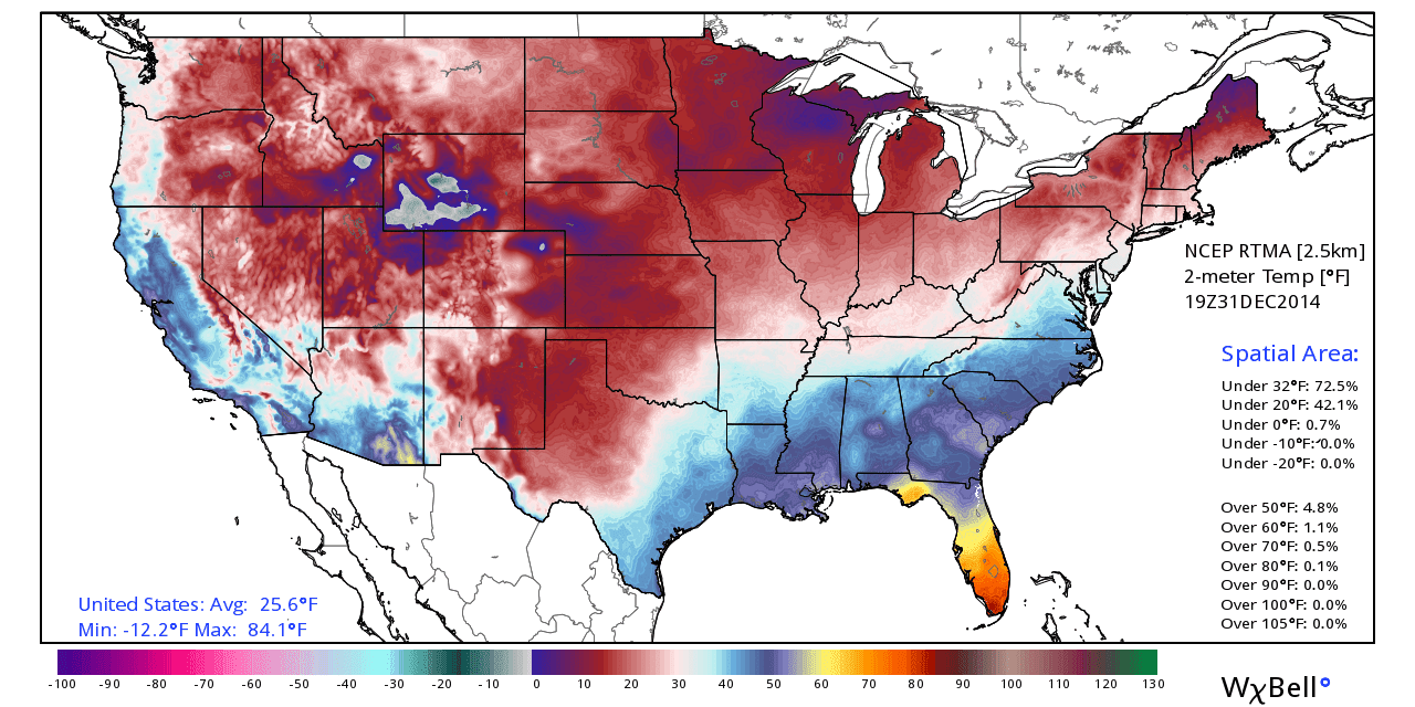Doing Advance Work Of US Is Under F Average Temperature - Us average temperature map december