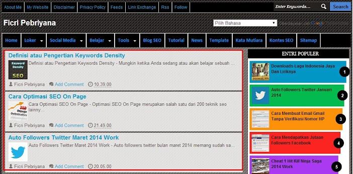 BBWhite Responsive Blogger Template Valid HTML5 dan CSS3 1