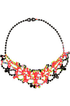 colorful statement necklaces, trend, fashion trend, trend-spotting, jewelry, Tom Binns Splash Out Swarovski Crystal Necklace