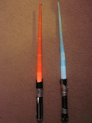 Darth Vader and Obi-Wan Kenobi Lightsabers / extended