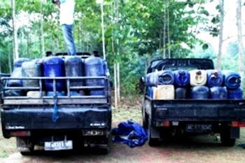 Penyelundupan BBM Bersubsidi. Kotabumi Lampung Utara