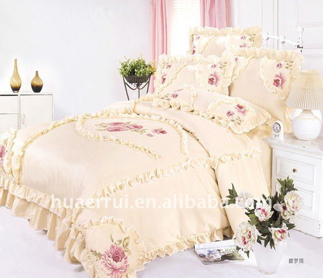 Wedding bed sheet bedding set