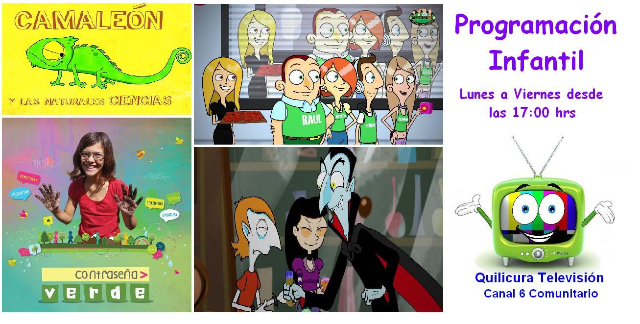 NUEVOS PROGRAMAS INFANTILES se incorporan a la parrilla de Quilicura TV desde el lunes 3 de agosto