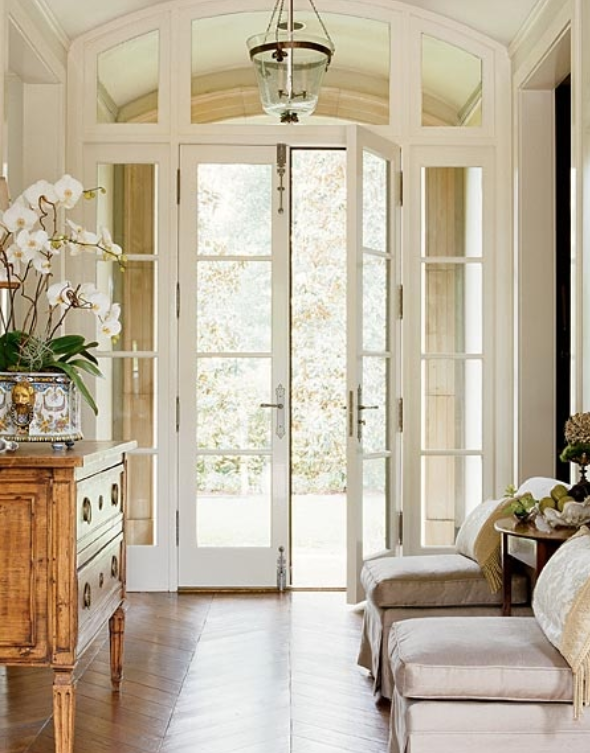 Greensboro interior design window treatments greensboro for Front entry french doors