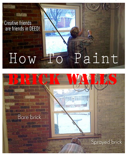 guidebook don 39 t be afraid to paint brick walls with a spray bottle. Black Bedroom Furniture Sets. Home Design Ideas