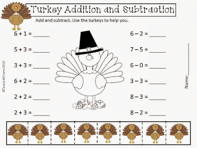 http://www.teacherspayteachers.com/Product/Turkey-Addition-and-Subtraction-962630