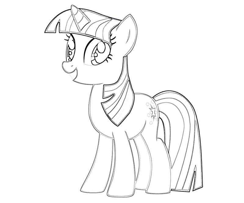 #10 Twilight Sparkle Coloring Page