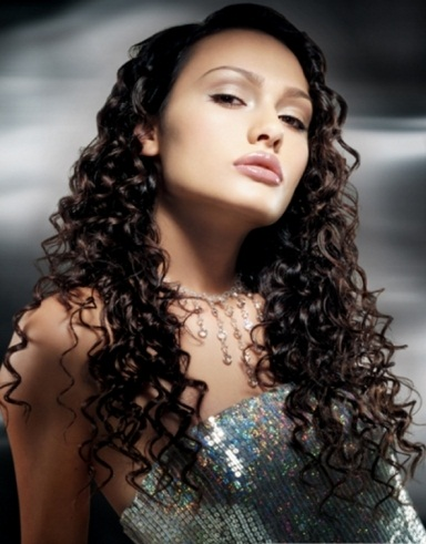 Long Tight Curls Hairstyle 2014