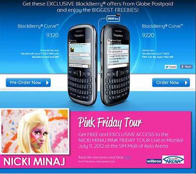 Nicki Minaj, BlackBerry Curve 9320
