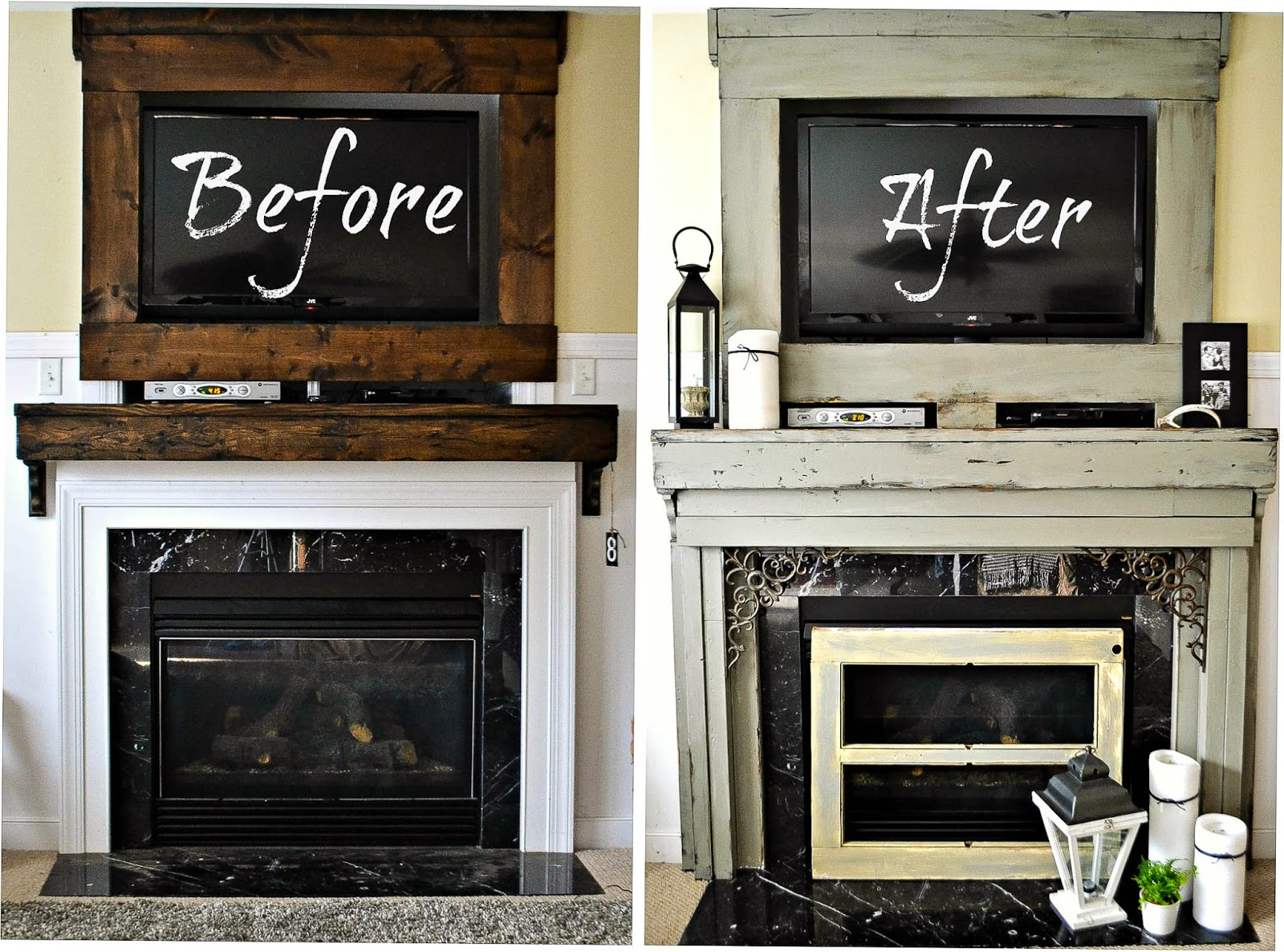 Down To Earth Style Painted Chunky Fireplace Mantel