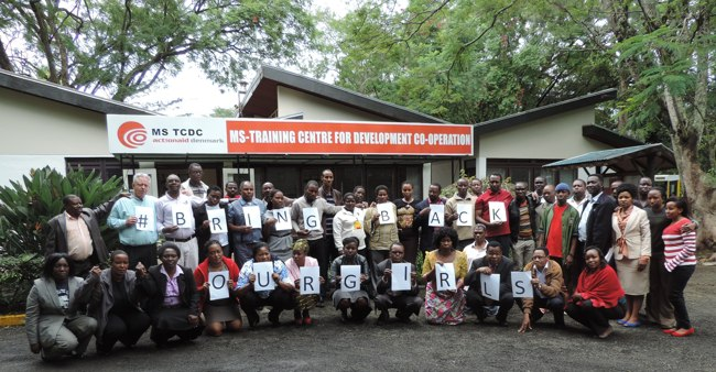 MS-TCDC staff and Participants Join the rest of the world in calling for the release of 200 Nigerian girls