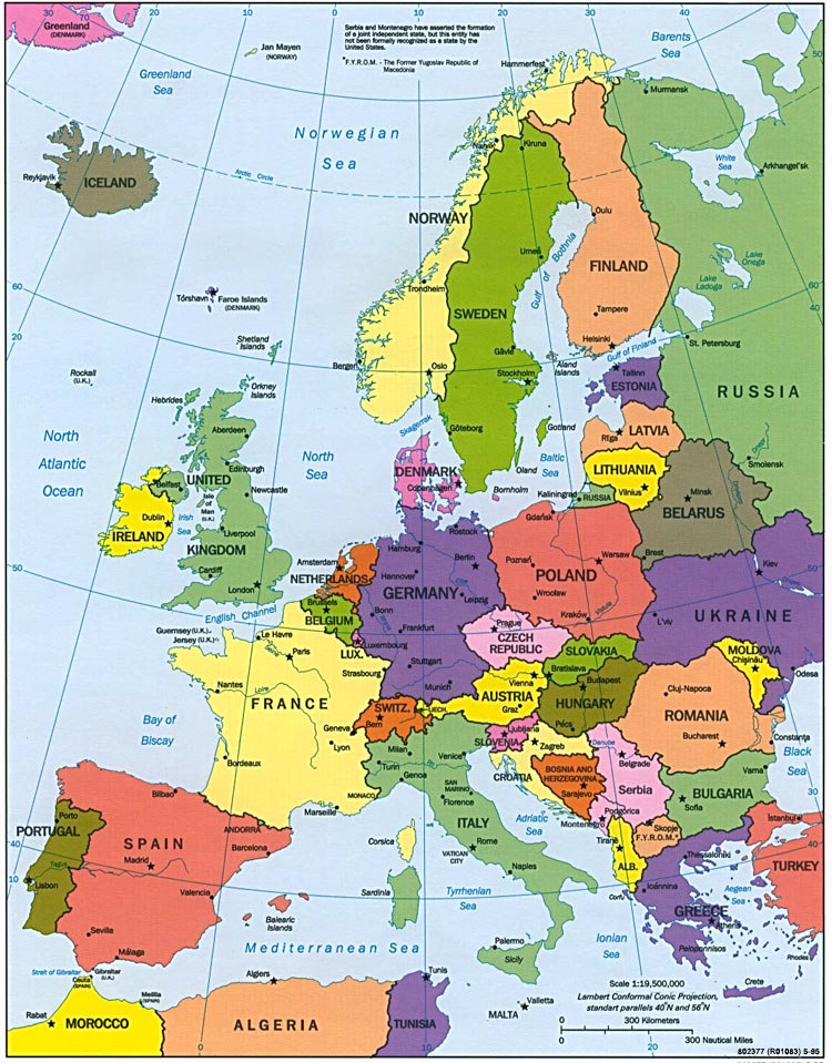 Netherlands Map Of Europe