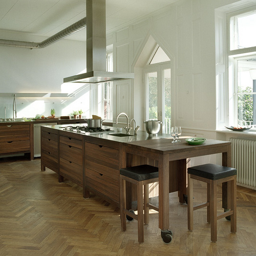 Houten Keuken: Moderne Keuken Design Trends 2012