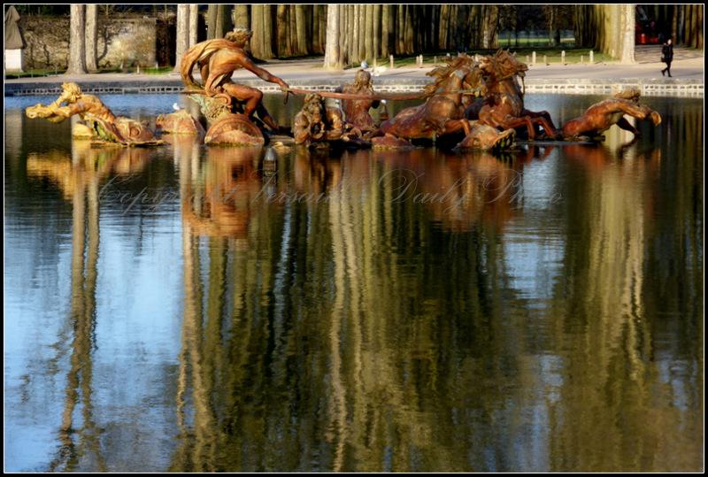 Bassin char d'Apollon Apollo's chariot Versailles