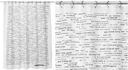 Shower Curtains With Writing Shower Curtains with Cats