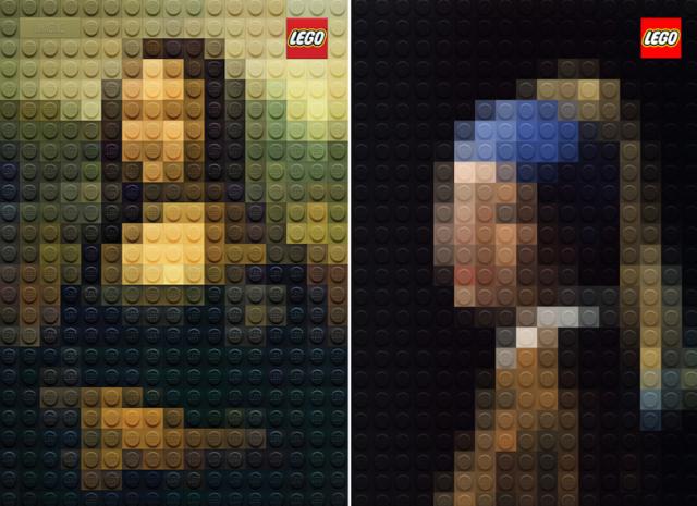 Campanha da Lego com obras de arte famosa