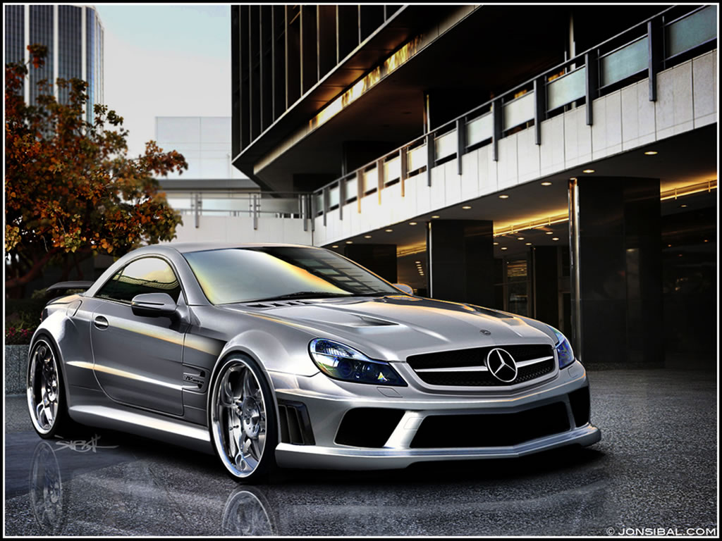 sporty mercedes benz sl65 amg black series brabus tuned