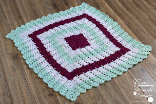 Shell Brook Square Afghan Crochet Pattern