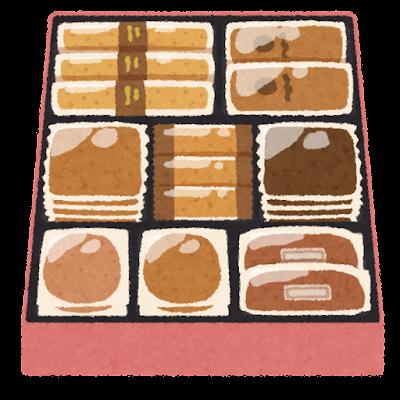 お菓子の詰め合わせのイラスト