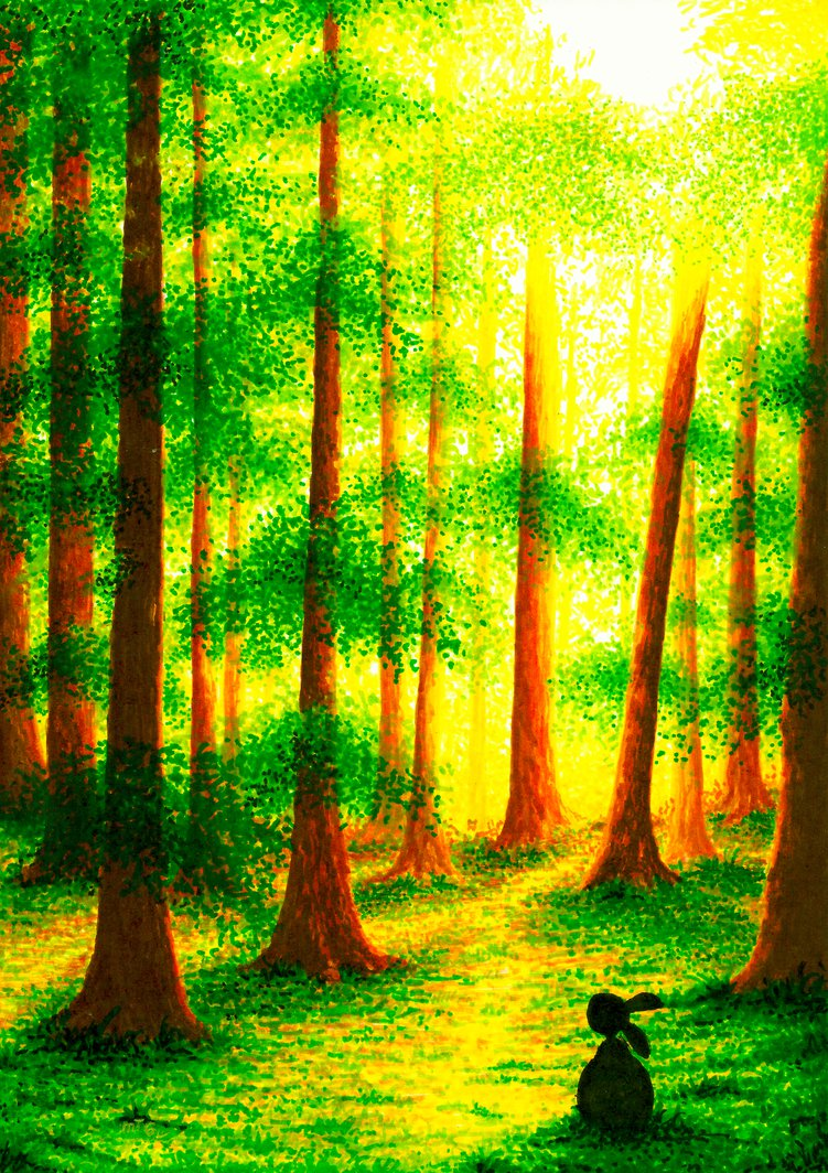 03-Morning-Light-XBUDDYFORME-Modern-Impressionist-Style-Applied-to-Vivid-Drawings-www-designstack-co