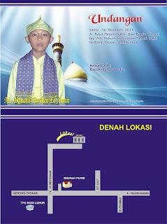 design undangan khitanan M. Akmalil Farhan El-Amin negeri sakti