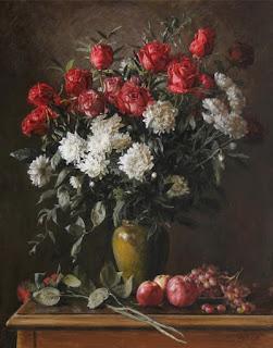 Pintura Hiperrealista Jarrones Flores