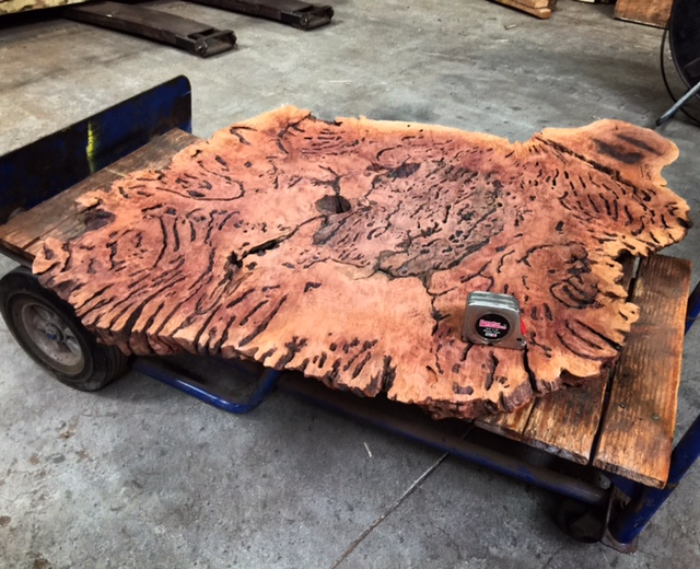 Tropical Exotic Hardwoods This Austrailan Red Gum Burl slab should
