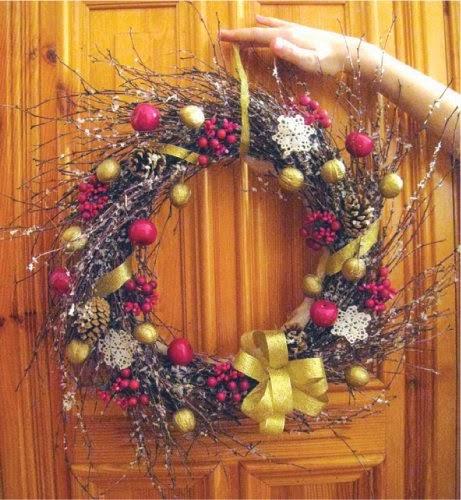 Multinotas decoraci n navide a coronas con ramas secas for Decoracion con ramas secas