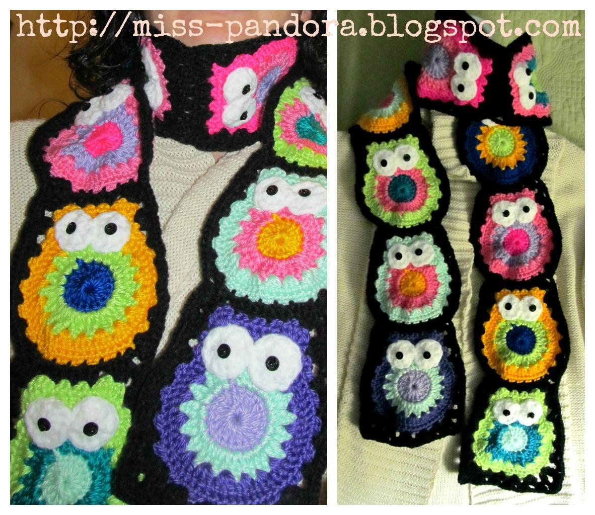 Lujo Crochet Patrón De La Bufanda Del Búho Imágenes - Ideas de ...