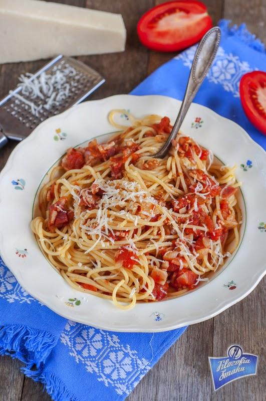 Spaghetti z boczkiem przepis