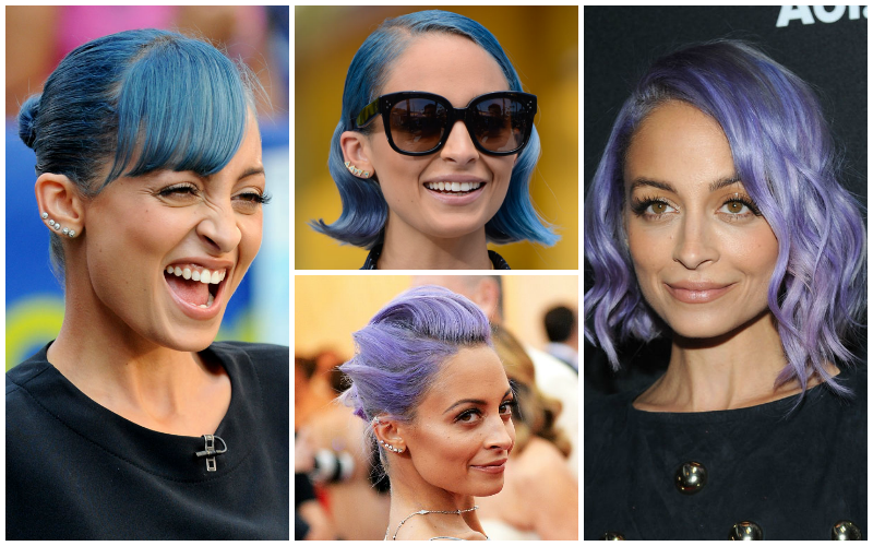 5 celebrities pastel hair capelli lavander Nicole Richie
