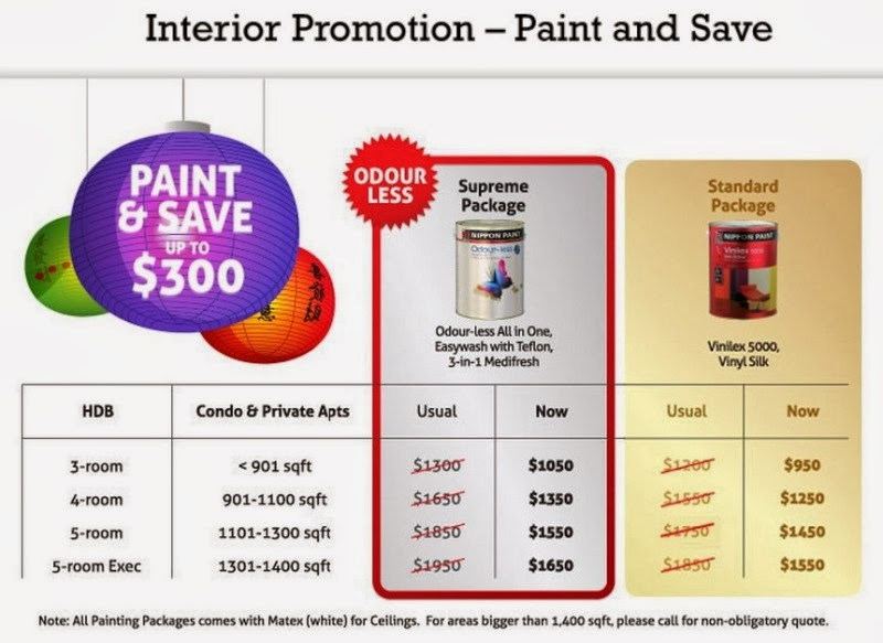 How much is nippon paint singapore