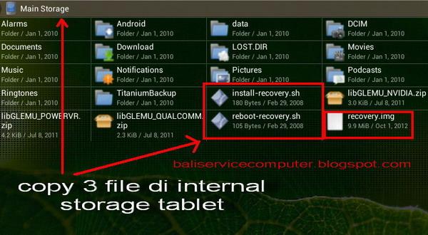Cara instal aplikasi CWM recovery untuk upgrade ke Android os Jelly ...