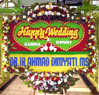 Papan Bunga Wedding
