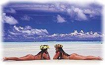 Полинезия, пляж, девушки