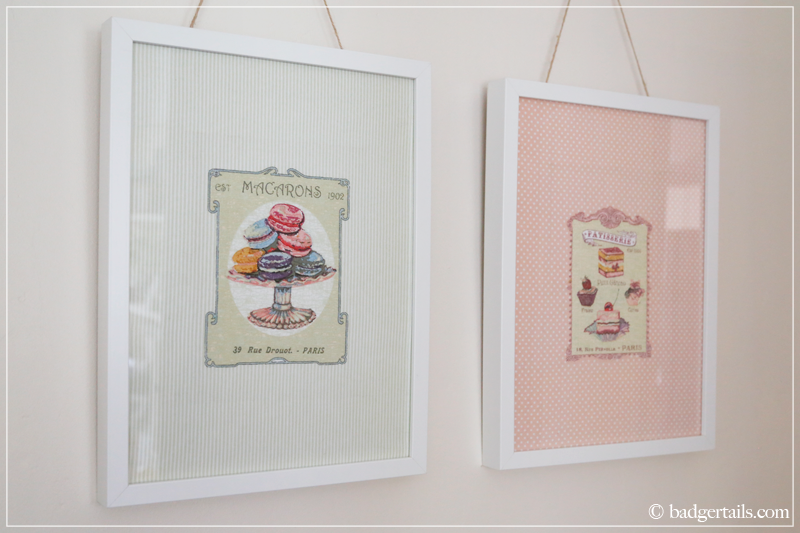 How to Frame a Tea Towel - French Tea Towels Framed on Wall
