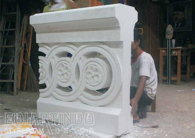 Pembuatan patung Replika Pagar