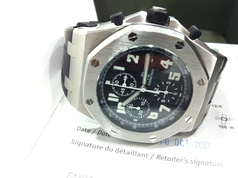 rolex daytona review. Audemars Piguet Offshore Chronograph quot;Black Themesquot;