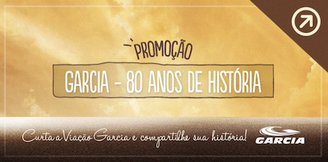 Participar promoção Viação Garcia 80 anos