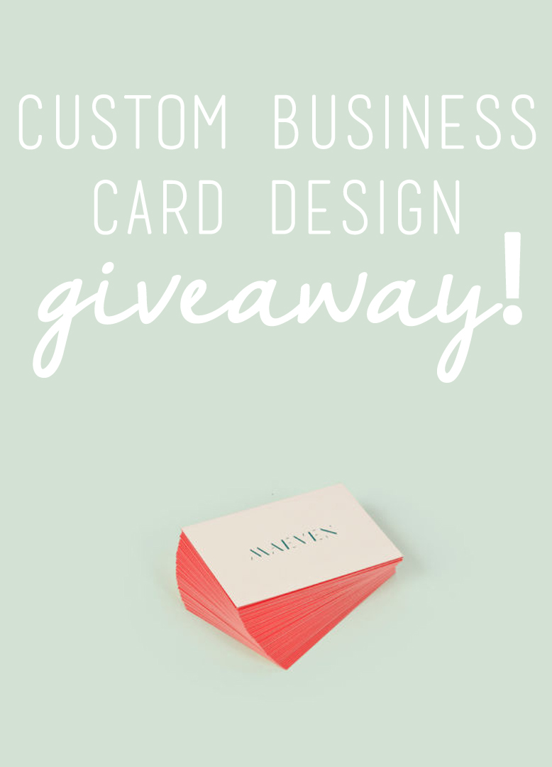 Custom business card design giveaway joojoo azad for Custome business cards